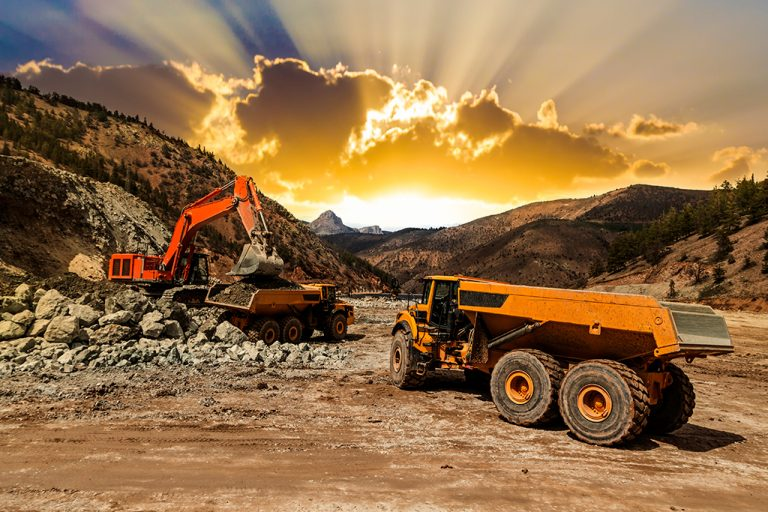 Industrial off-highway excavation and dump truck rigs