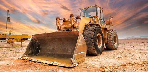 Bulldozer on Oil Field