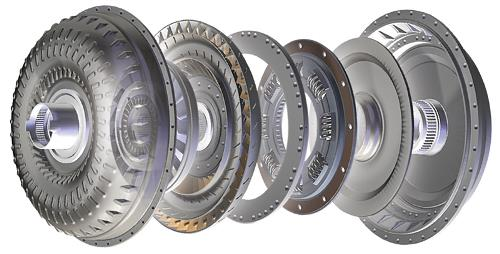 Exploded view of Allison Transmission Torque Converter TC Series