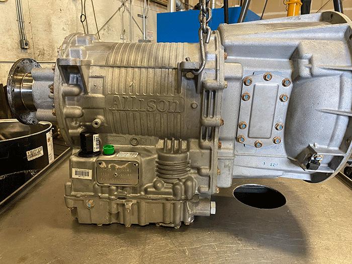 Allison 3000 Transmission, Passenger Side View