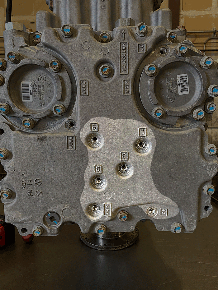 Allison 3000 Series Transmission, Control Module, Clutches Highlighted